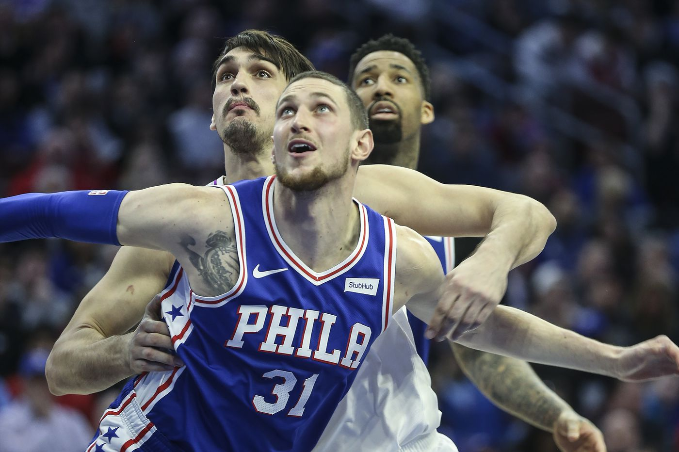 the latest 619b9 7b325 Sixers big man Mike Muscala got YouTube famous way back in ...