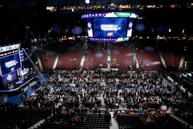A look at the floor of the 2019 NHL draft in Vancouver. This year's draft in Montreal has been postponed due to the coronavirus pandemic, the league announced Wednesday.