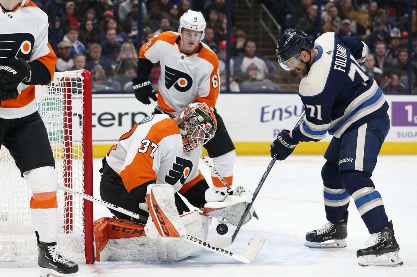 Kevin Hayes' OT goal gives Flyers 4-3 win over Columbus Blue Jackets