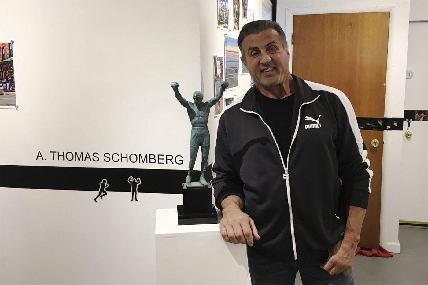 Sylvester Stallone visits 'Rocky' art exhibit
