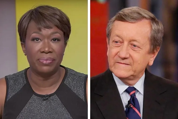 """MSNBC host Joy Reid (left) apologized for old blog posts that surfaced on Twitter, while ABC News' Brian Ross (right) says he agrees """"with being held accountable myself."""