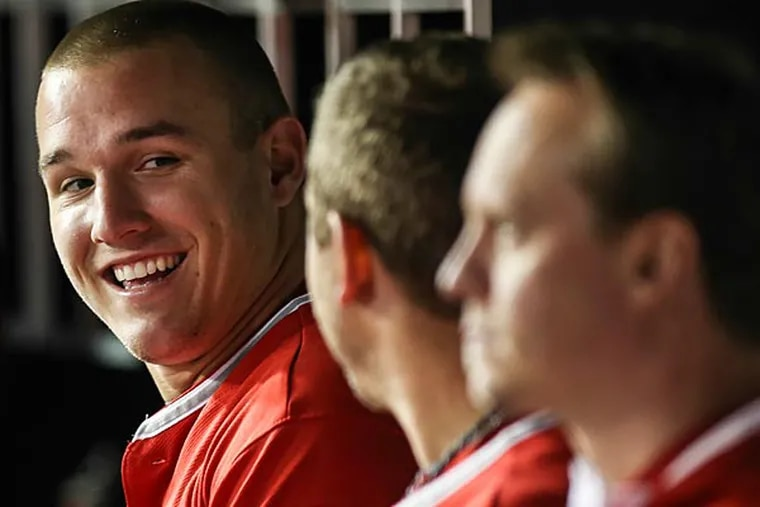 The Angels' Mike Trout. (Steven M. Falk/Staff Photographer)