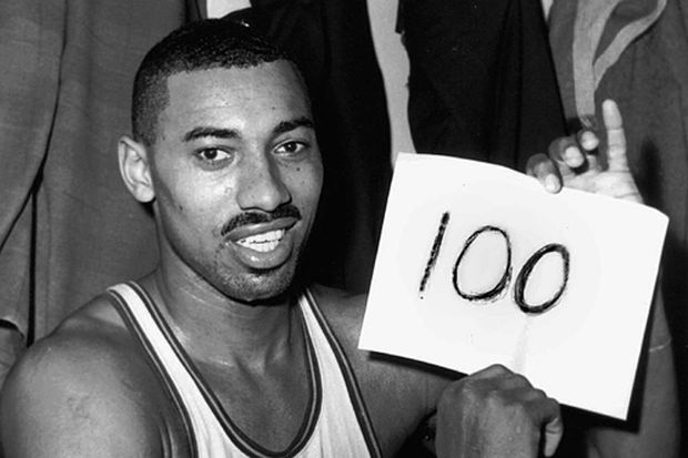 A scoresheet from Wilt Chamberlain's 100-point game will be auctioned. But which scoresheet is it?