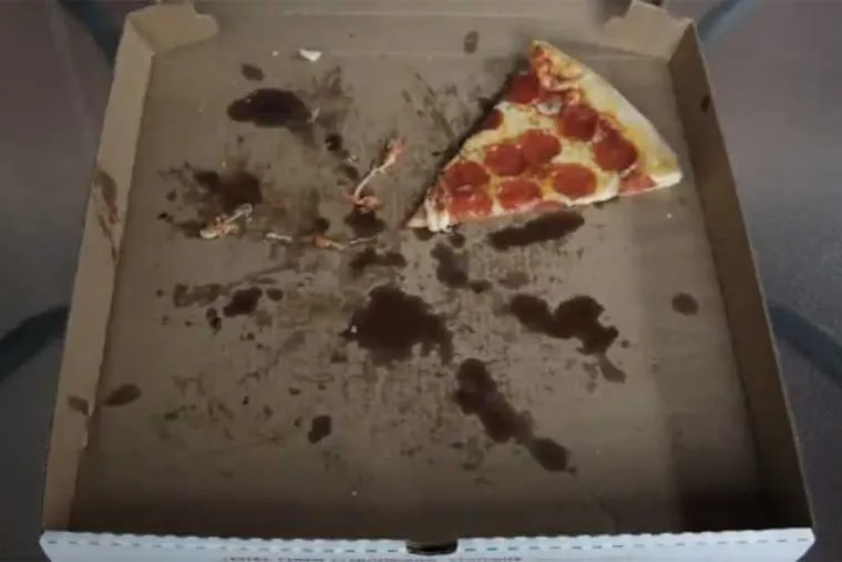 Greasy pizza boxes can't be recycled in Philadelphia.