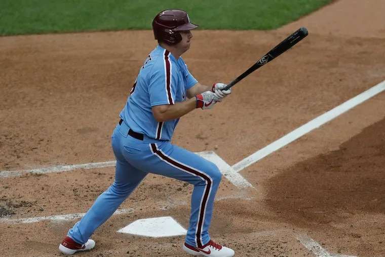 Jay Bruce suffered the same injury in the span of two weeks, but the Phillies expect the slugger to return this month.