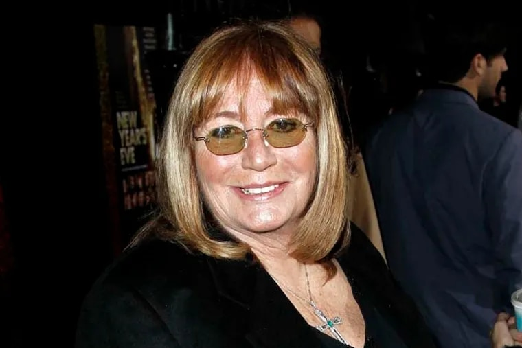 """Penny Marshall arrives at the premiere of """"New Year's Eve"""" in Los Angeles on Monday, Dec. 5, 2011. (AP Photo/Matt Sayles)"""