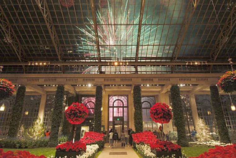 No plans for New Year's? Longwood Gardens features flowers and fireworks.