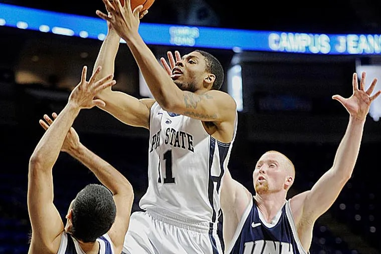 Jermaine Marshall scored 15 points for Penn State (7-4), which used a 32-5 first-half run to open a commanding, 34-8 lead against the Wildcats. (Abby Drey/AP)