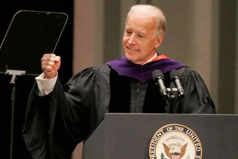 Vice President Biden speaks at the University of Pennsylvania's School of Social Policy and Practice commencement.