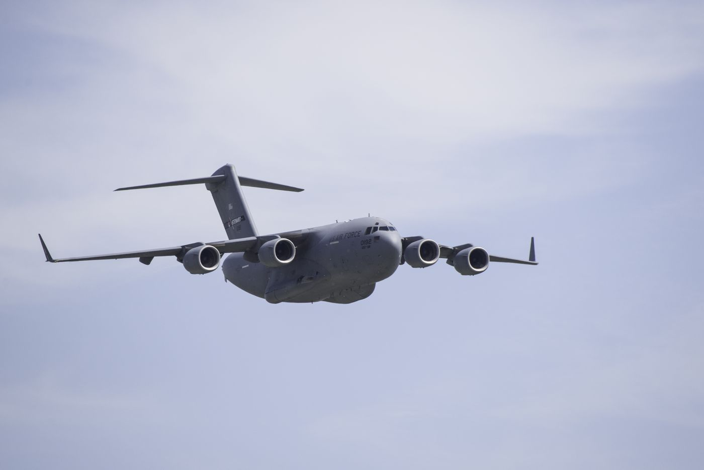 Why you saw a large military plane fly over Philly Friday morning