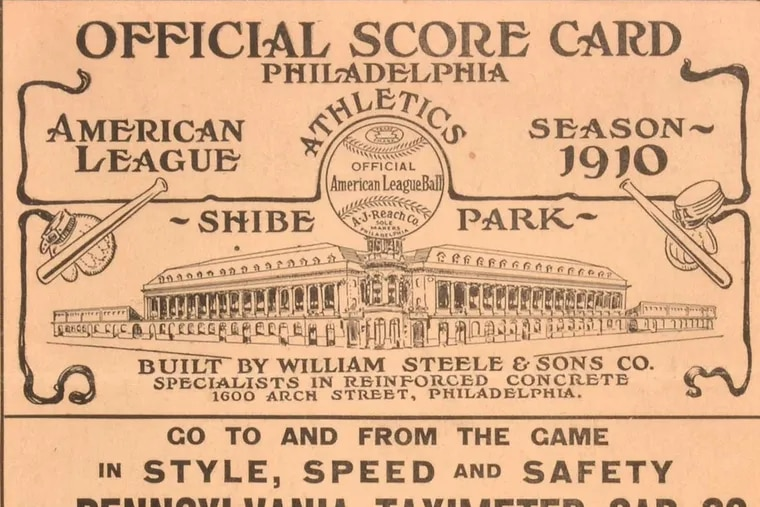 The cover of the program from the first game of the 1910 World Series between the Philadelphia A's and Chicago Cubs makes no mention of the World Series,