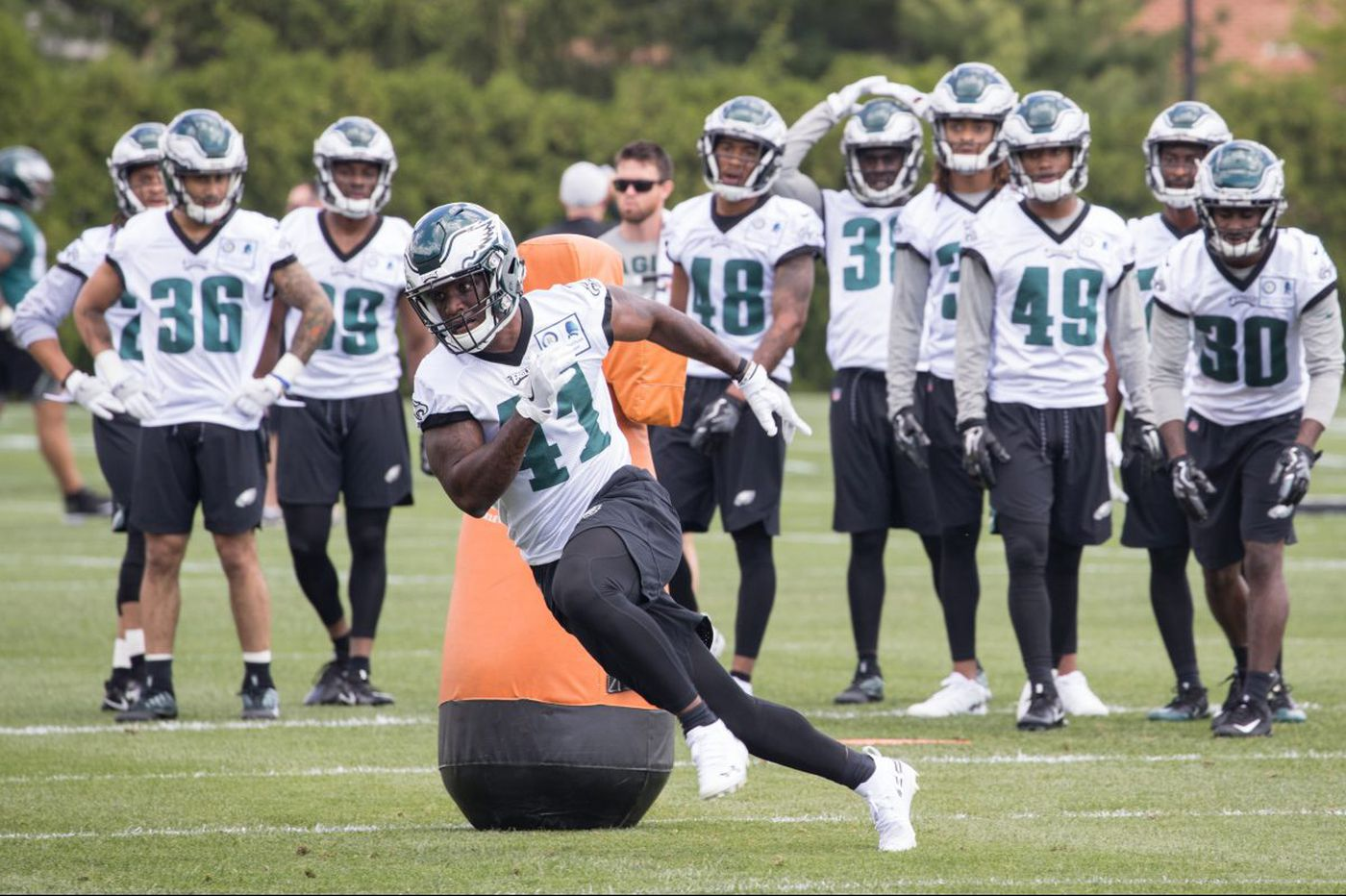 The safety in numbers could be Eagles undrafted rookie Jeremy Reaves