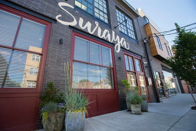 The  on Frankford Avenue exterior of Suraya, Fishtown's game-changing ode to the flavors of Lebanon.