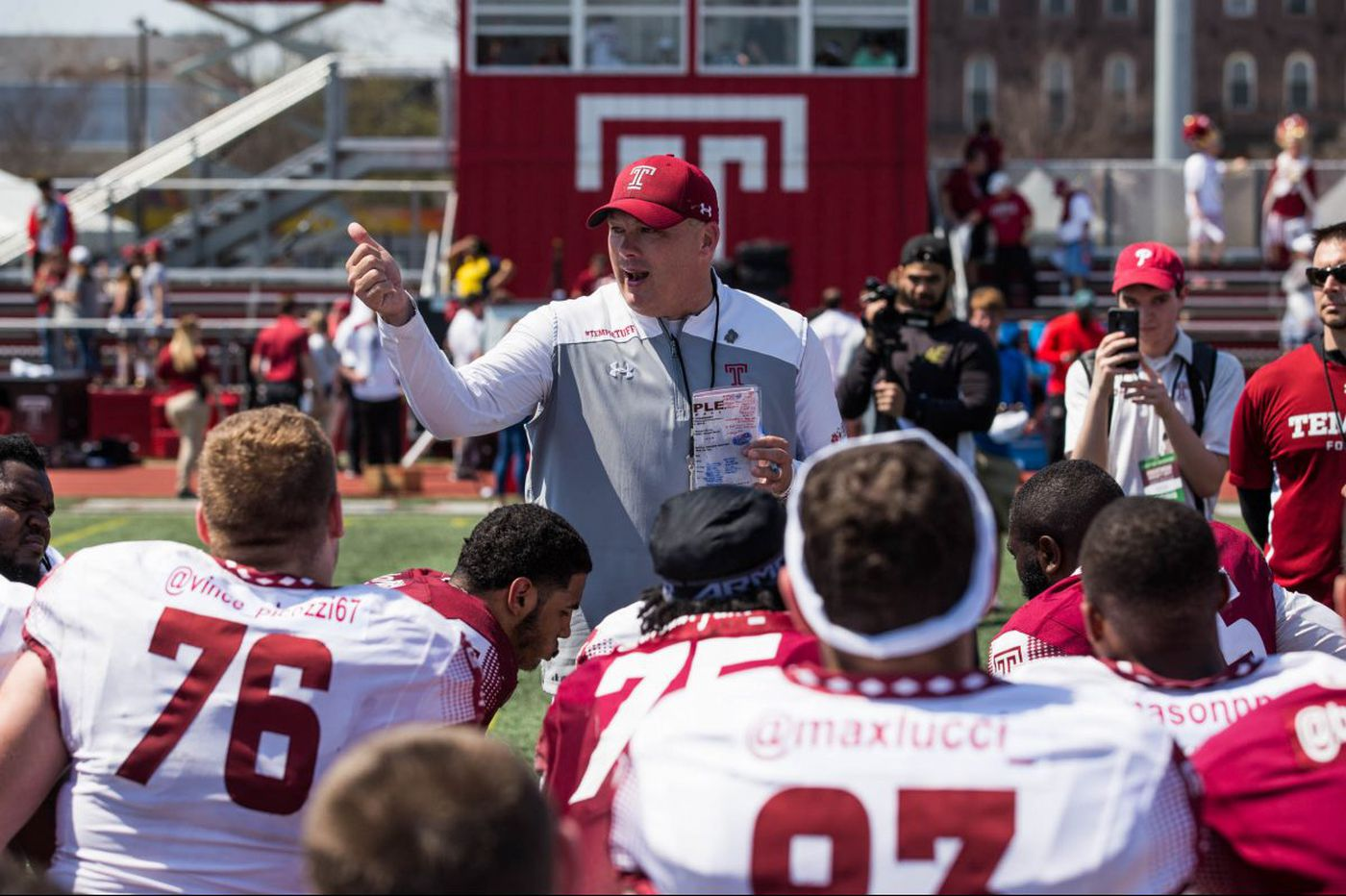 Geoff Collins, Temple football players heading to Japan this week