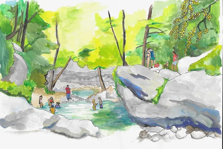 Devil's Pool in the Wissahickon Valley Park is off-limits to swimmers. That does not stop them.
