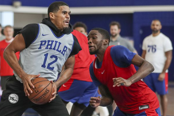 For the Sixers' tall lineup, spacing will be a work in progress