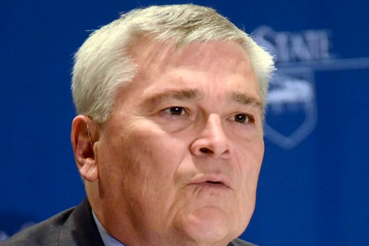 Penn State president Eric J. Barron announced he will leave in June 2022 at the end of his contract.