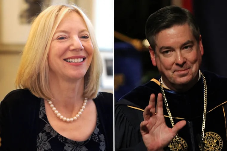 Gutmann, left, and Fry, right, are among 43 university presidents nationally who earn in excess of $1 million. (FILE)
