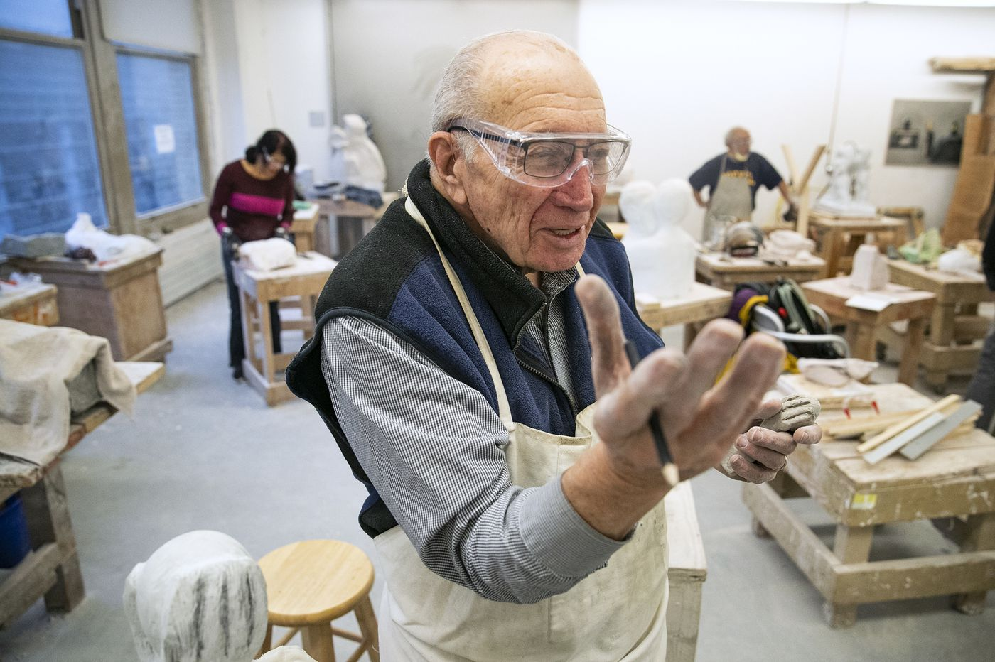 At 87, this Philly physician to spinal cord injury patients finds hope in sculpting
