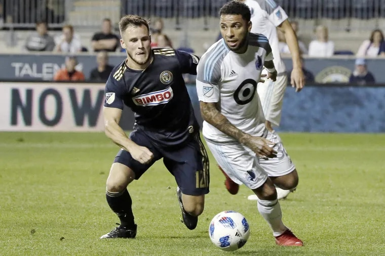 The Union have traded right back Keegan Rosenberry (left) to the Colorado Rapids.