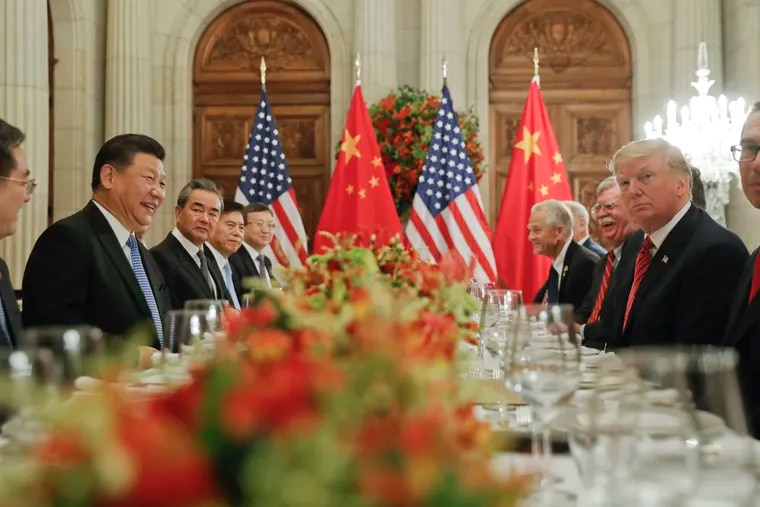 President Donald Trump meets with China's President Xi Jinping during their bilateral meeting at the G20 Summit, Saturday, Dec. 1, 2018 in Buenos Aires, Argentina.