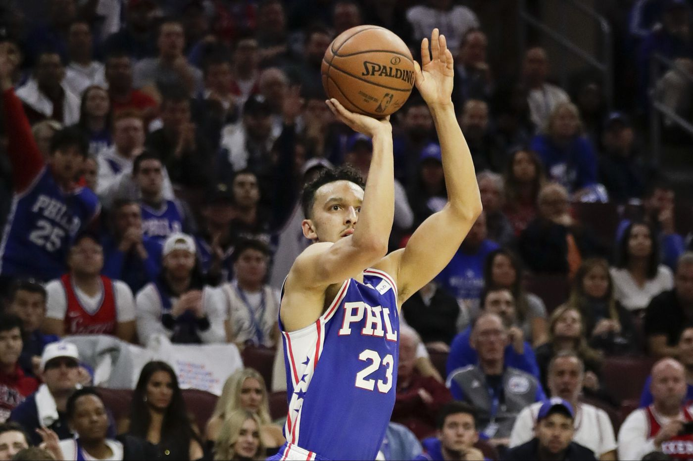size 40 265fd c1ef2 Sixers' rookie Landry Shamet showing promise with shooting touch
