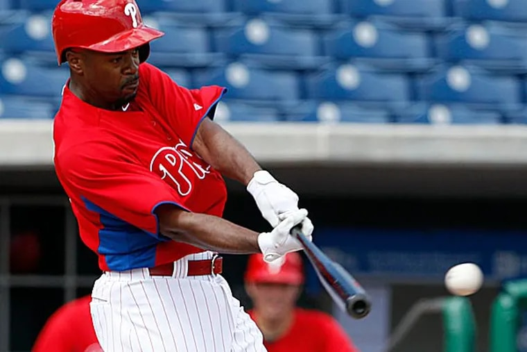 There was Ryan Howard legging out a double to the wall and Jimmy Rollins stealing second base and Roy Halladay showing the velocity and late life on his fastball that was missing for much of the 2012 season. (Yong Kim/Staff Photographer)