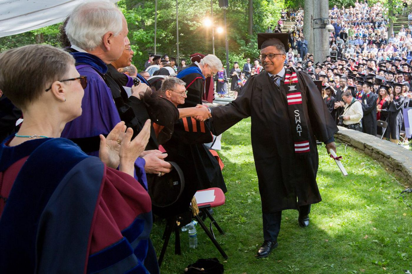 After 42 years, Swarthmore's 1975 class president graduates