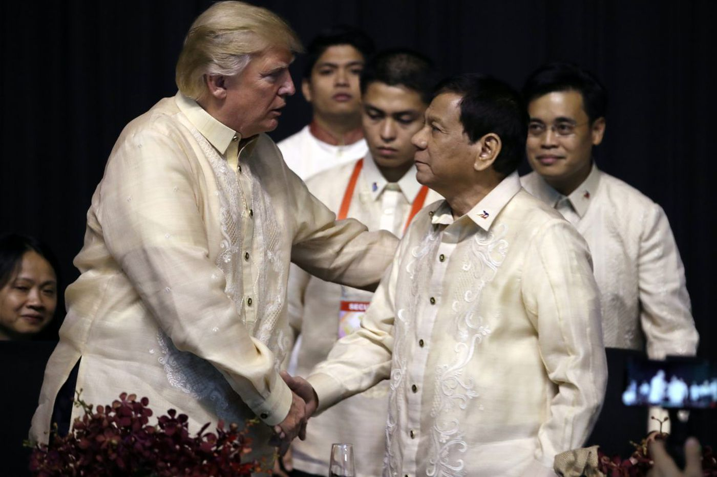 Why were President Trump and President Duterte twinning?