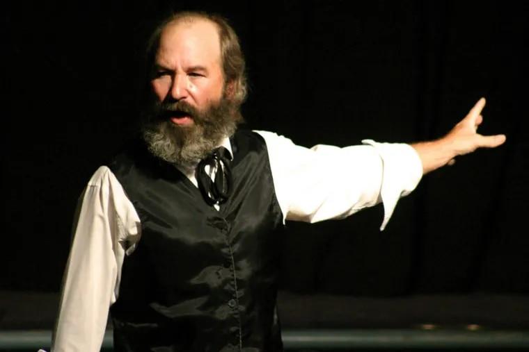"""Robert Weick as Karl Marx in """"Marx in Soho,"""" through Sept. 22 at the Philadelphia Fringe Festival."""