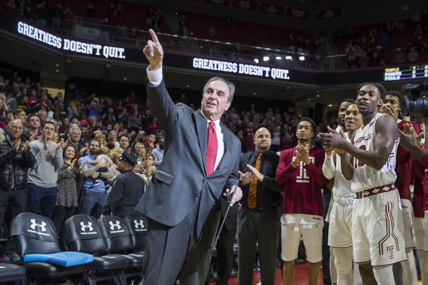 In Fran Dunphy's final regular-season game, Temple beats UCF to make statement for NCAA tournament bid