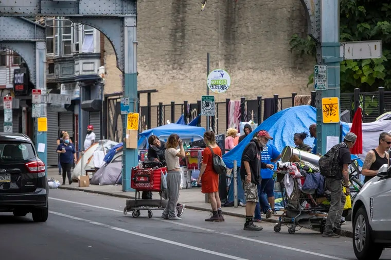 The city of Philadelphia has set a deadline of Aug. 18 for encampments of people living homeless on the sidewalks of Kensington to be cleared.