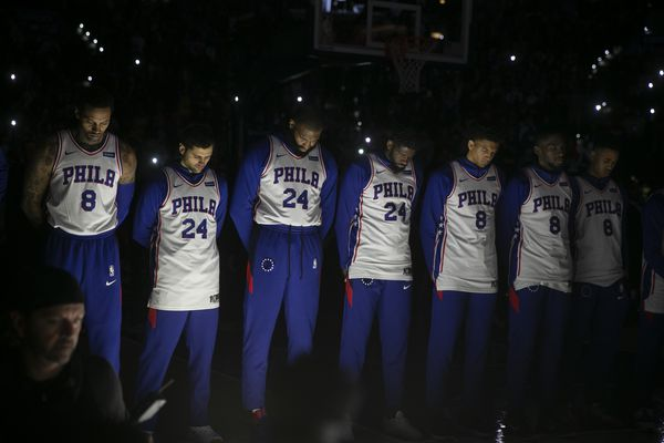 Sixers pay tribute to Kobe Bryant and victims of helicopter crash in stirring pregame ceremony
