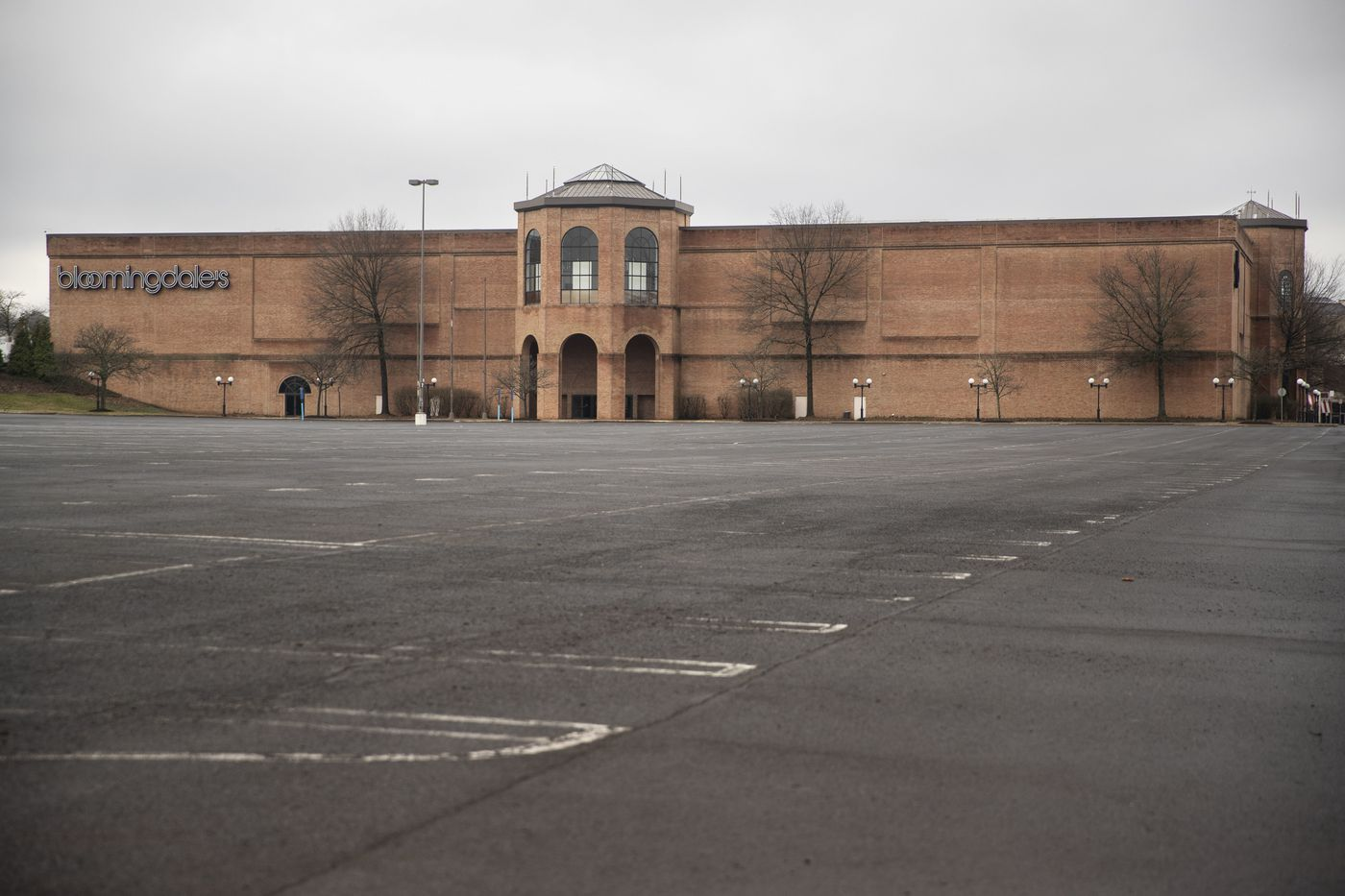 Empty parking lots at the closed Willow Grove Park Mall in Willow Grove, Pa. on Friday, March 13, 2020.