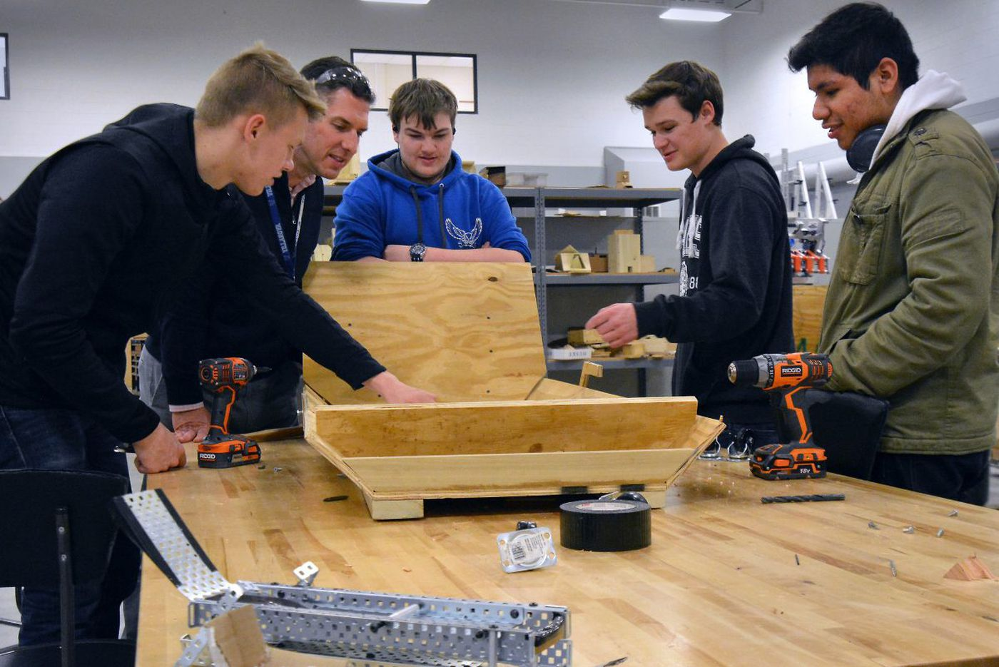 A sled for the blind? Students are making one at Bensalem High School