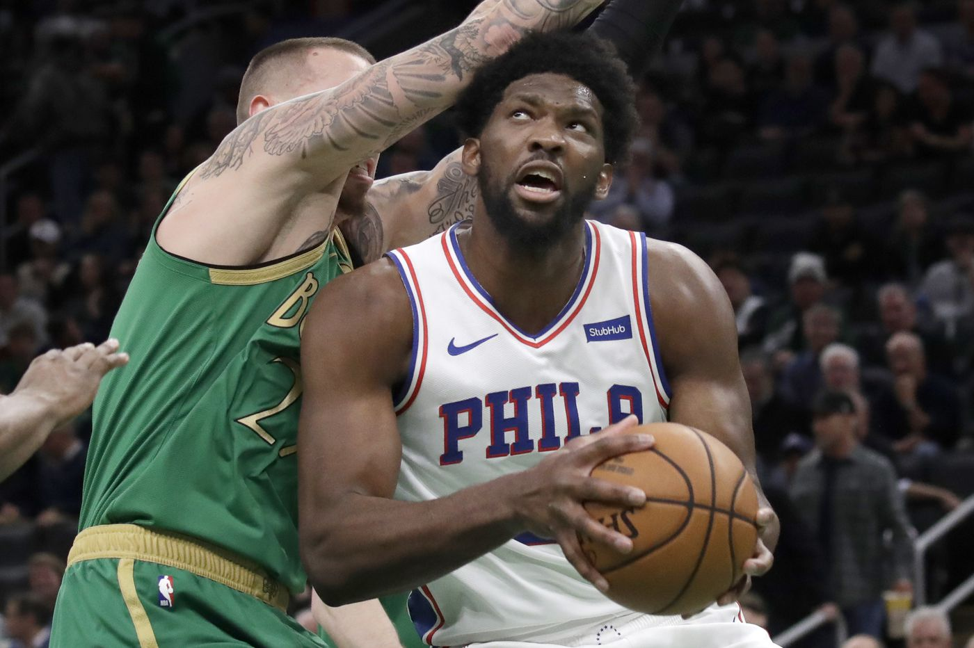 After a phone call with Shaq, Joel Embiid went out and dominated the Celtics | David Murphy