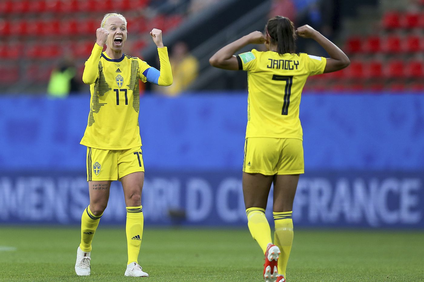 Sweden defeats Women's World Cup newcomers Chile 2-0 after storm delay