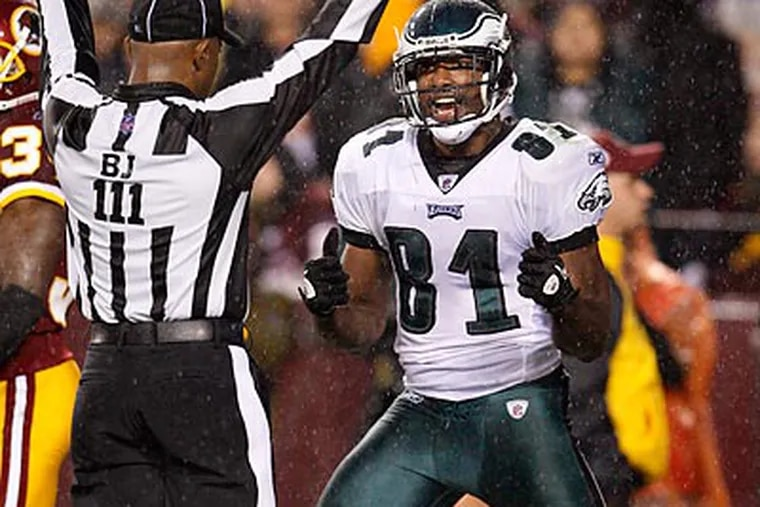Jason Avant was voted as the winner of the Ed Block Courage Award by his teammates. (Ron Cortes/Staff Photographer)