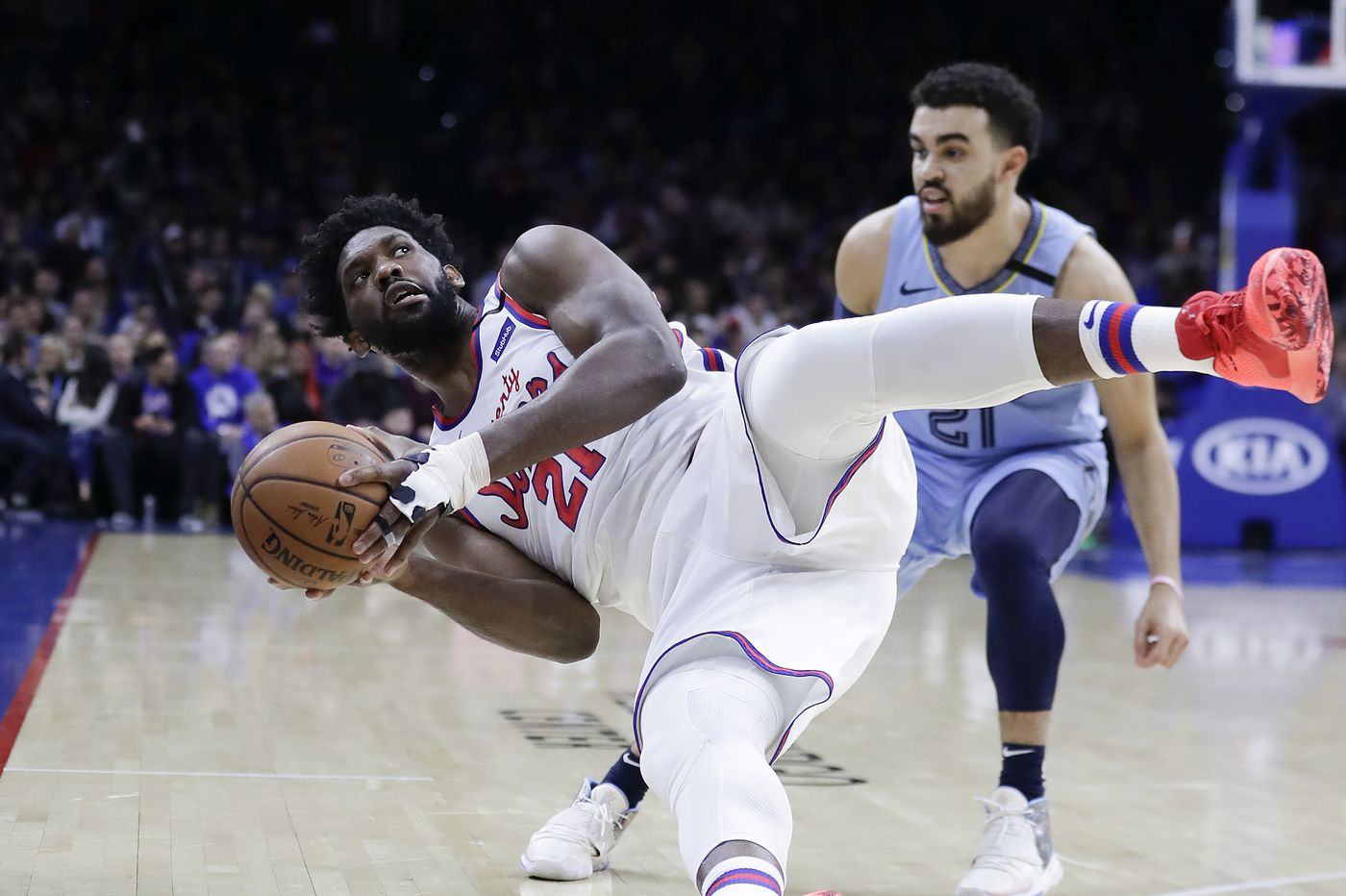 Joel Embiid is questionable for the Sixers game on Sunday against Chicago