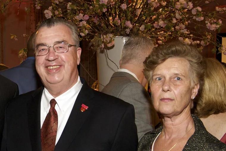 Cooper University Health System CEO John P. Sheridan Jr. and his wife, Joyce. (Jodi Samsel/AP Photo)