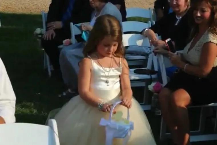 Kayden Mancuso at her mother Kathryn's wedding to Brian Sherlock in 2016.