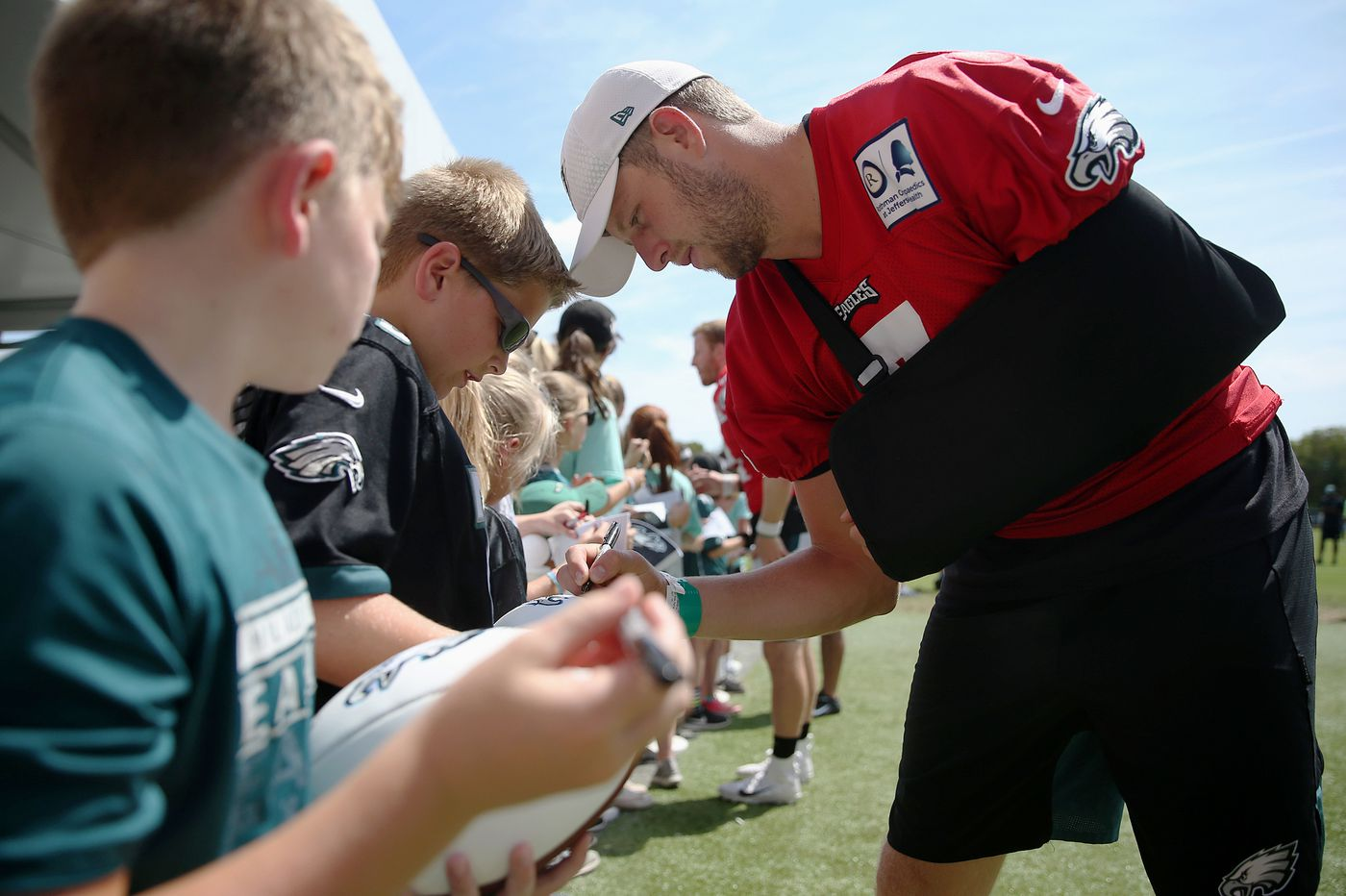 Eagles injury updates: Nate Sudfeld is thankful it wasn't his right wrist; Lane Johnson and Dallas Goedert will sit out preseason as well