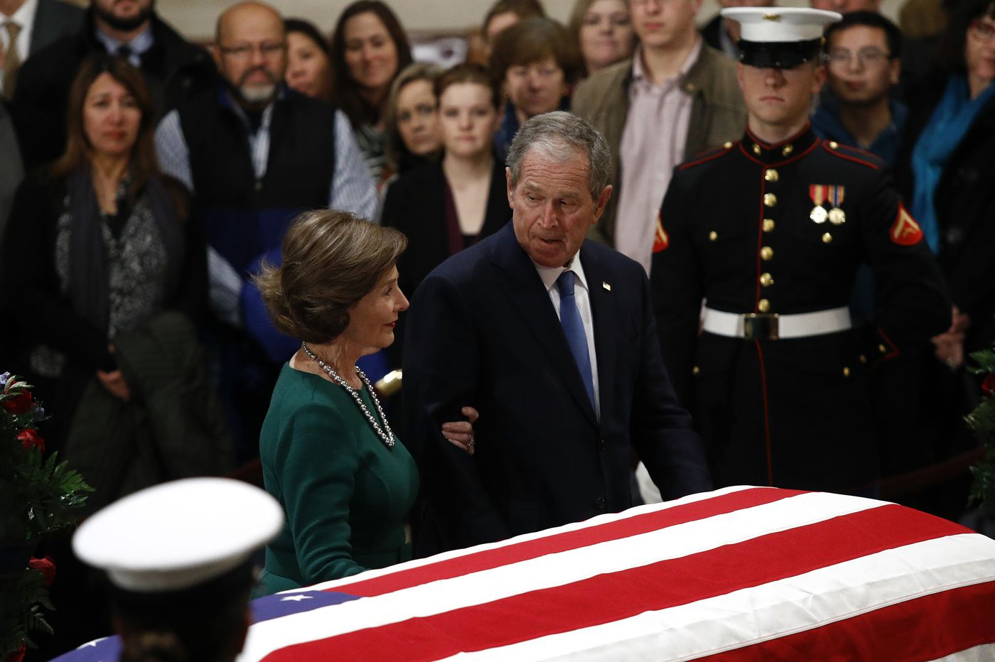 Live video: President George H W  Bush's funeral