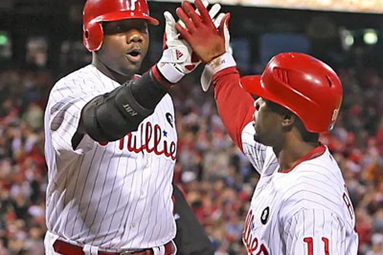 First baseman Ryan Howard and shortstop Jimmy Rollins were both drafted by the Phillies. (Steven M. Falk/Staff file photo)
