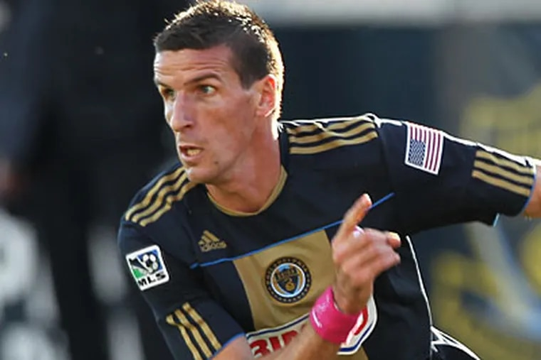 Sebastien Le Toux wil face the Union on Saturday for the first time since being traded to Vancouver.  (Michael Bryant/Staff file photo)