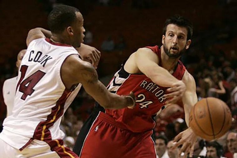 The 76ers acquired Jason Kapono on June 9 in a trade for Reggie Evans. (Lynne Sladky/AP file photo)