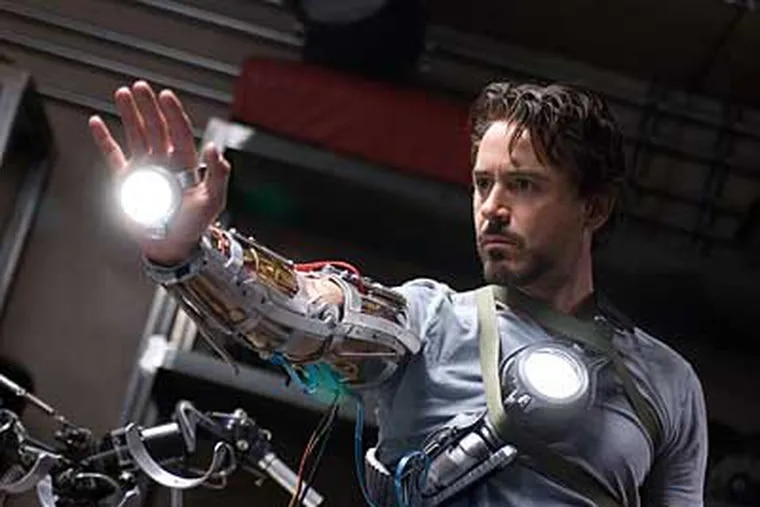 Robert Downey Jr. plays Tony Stark, Iron Man's creator and alter ego. The film is based on the work of comic artist Stan Lee.