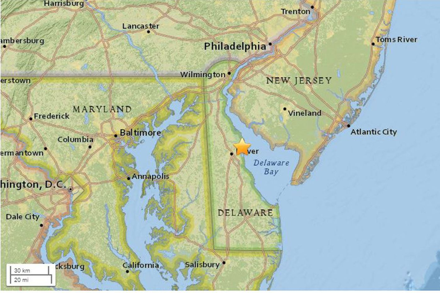 4.1 magnitude Delaware earthquake shakes Philly, South Jersey region