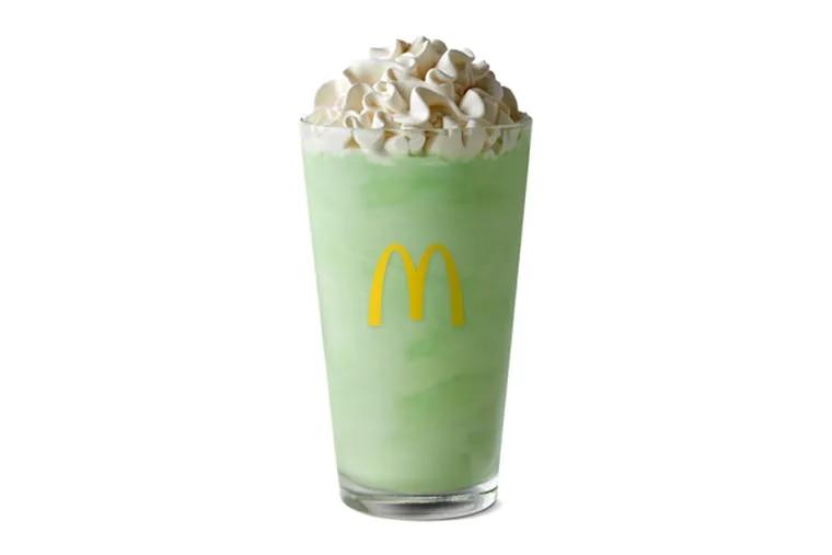 McDonald's Shamrock Shake, available this September in honor of football season.