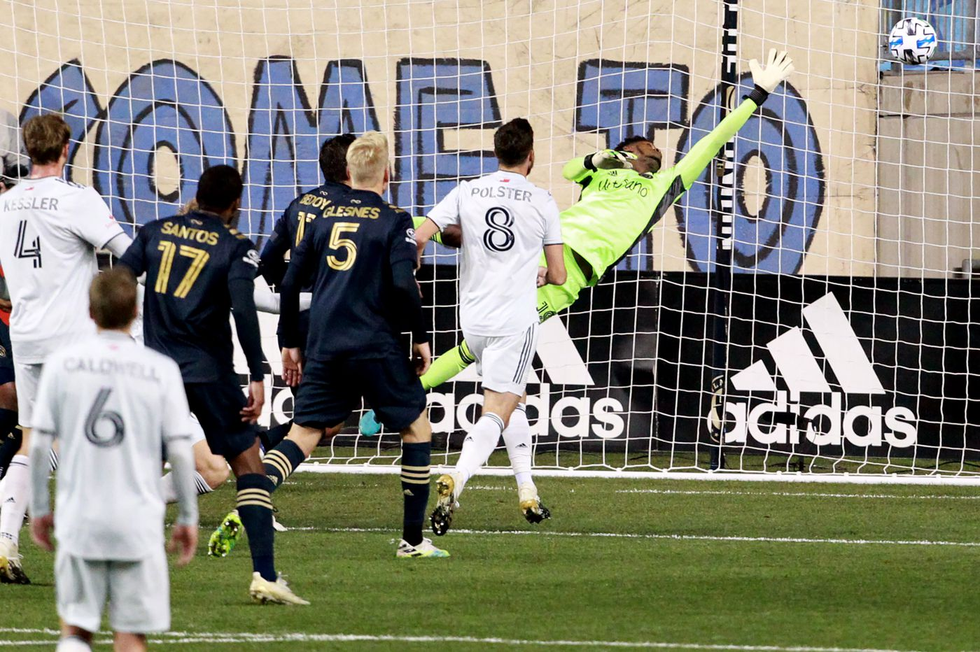 Union's season ends with 2-0 playoff loss to New England Revolution